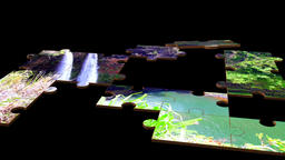 Puzzle of Hawaii waterfall Filmmaterial