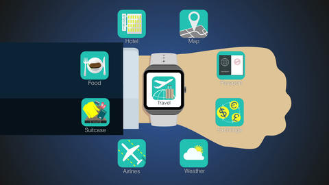 Travel application function for smart watch,mobile watch(included alpha) Animation