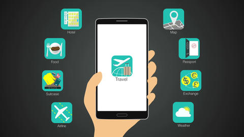Travel application function for smart phone,mobile 실사 촬영