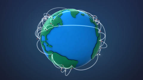 Start America, Growing Global Network with communication Animation