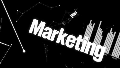 Plan, marketing, vision, strategy, new business, Text... Stock Video Footage