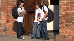 Young Boys Students At School Footage