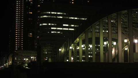 Japan Bridge night/夜の勝どき橋 Footage