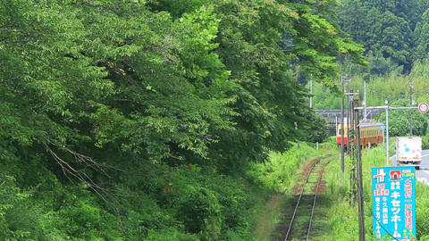 Run the country of Japan, the local railway./ローカル線、小湊鉄道。 Live Action