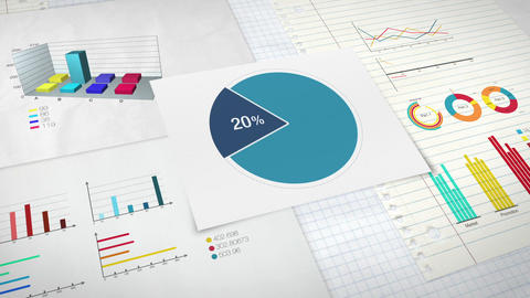 Pie chart indicated 20 percent, Circle diagram for presentation version 1 Animation