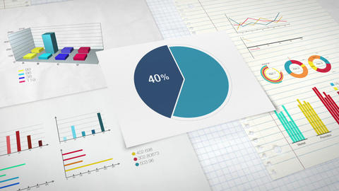 Pie chart indicated 40 percent, Circle diagram for presentation version 1 Animation