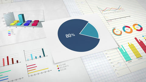 Pie chart indicated 80 percent, Circle diagram for presentation version 1 Animation