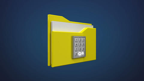 Access Computer file security animation, enter password, and opened folder Footage