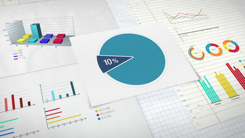 Pie chart indicated 10 percent, Circle diagram for presentation version 1 Animation
