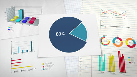 Pie chart indicated 80 percent, Circle diagram for presentation version 2 Animation