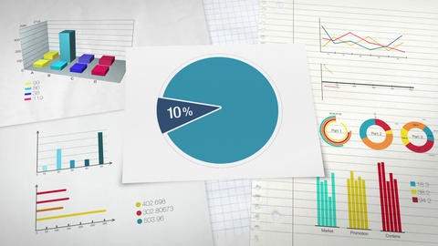 Pie chart indicated 10 percent, Circle diagram for presentation version 2 Animation
