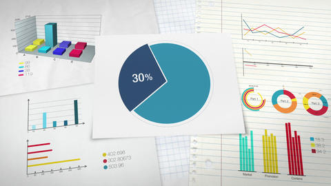 Pie chart indicated 30 percent, Circle diagram for presentation version 2 Animation