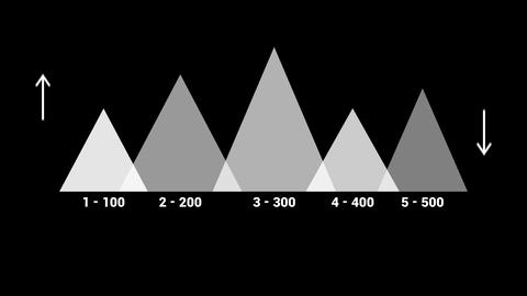 Isolated overlay infographic element - triangles. Isolated Animation