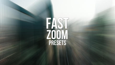 Fast Zoom Presets Premiere Pro Template
