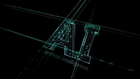 AI, artificial intelligence digital network technologies 19 1 Logo 1 N1 kuro 4k CG動画