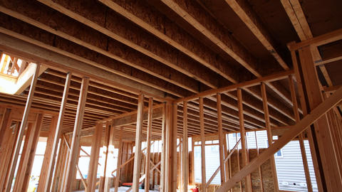 New construction wood home framing construction home Live Action