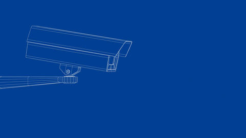 Security camera wireframe UHD Animation