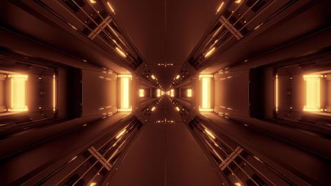 dark futuristic scifi tunnel corridor 3d rendering motion background wallpaper Animation