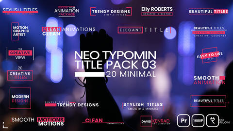 20 Typomin Title Pack 03 MOGRT Motion Graphics Template