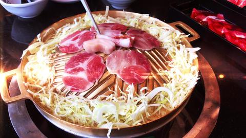 Japanese Cuisine Jingisukan Grill Food Live Action