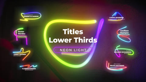 Neon Titles Lower Thirds (AE)