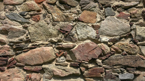 Old castle stone wall.Texture of a stone wall Footage