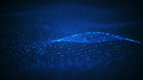 Technology binary data wave background Animation