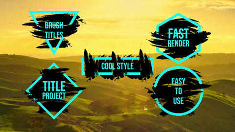 Brush Titles After Effects Template