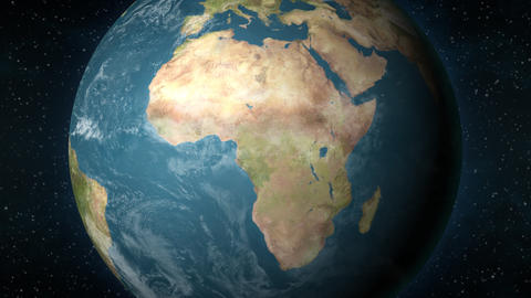 Planet Earth, zooming in on the African continent Animation