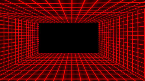 Futuristic Red 3D Flight Tunnel Animation with Neon lights Animation
