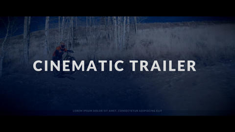 Cinematic Trailer Premiere Pro Template