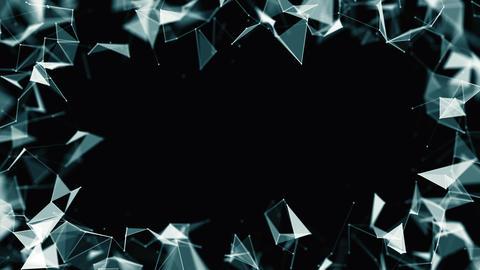 Abstract plexus network frame on black Videos animados