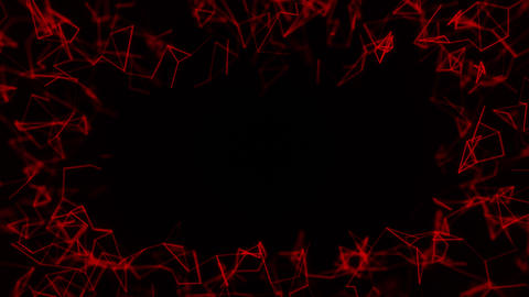 Abstract red constellation lines frame on black Animation