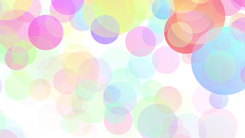Colorful Particles white background loop Animation