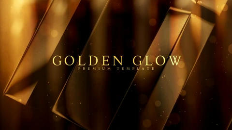 Golden glow After Effects Template