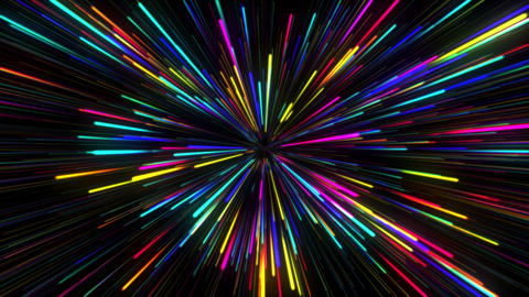 Abstract Colorful CG Motion Background With Glowing LInes GIF