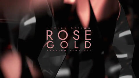 Rose gold After Effects Template