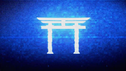 Shinto symbol Torii religion Symbol Digital Pixel Noise Error Animation Live Action