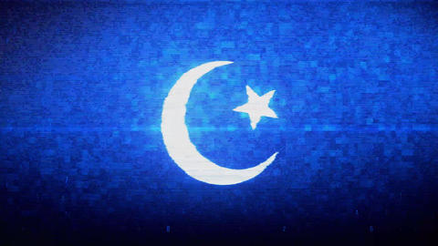 Star and Crescent symbol Islam religion Symbol Digital Pixel Noise Error Live Action