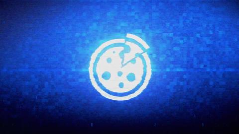 Fast, food, italian, pizza Symbol Digital Pixel Noise Error Animation Footage