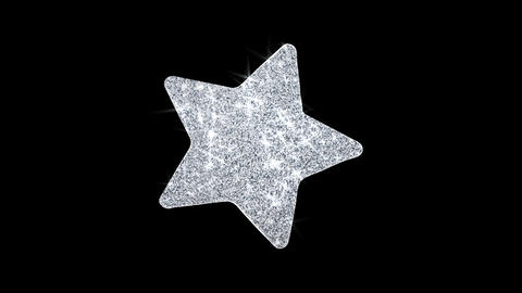 Star Icon Shining Glitter Loop Blinking Particles Live Action