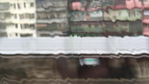 Rain floating on glass HD Footage