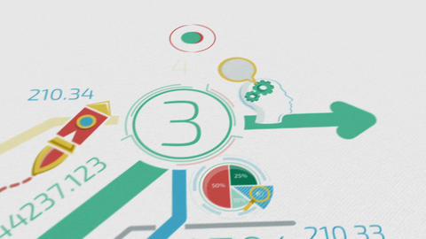 Business Background With Elements Of Infographics Animation