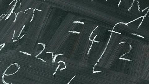 Math Blackboard Footage