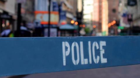 Police Barricade Footage