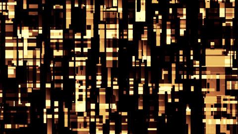 Broadcast Golden Twinkling Rectangles Hi-Tech Blocks Loop Background Animation
