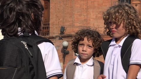 School Kids Having A Conversation Stock Video Footage