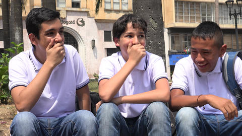 Teen Boys Laughing Having Fun Footage