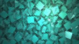 Abstract block shapes in turquoise hue Footage
