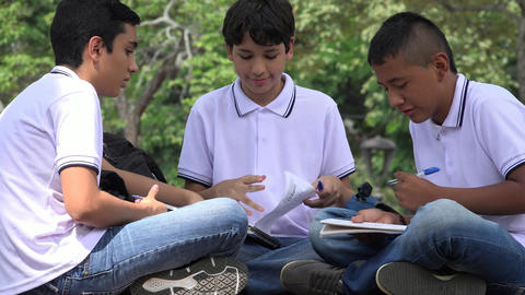 Teen Students Doing Homework Footage